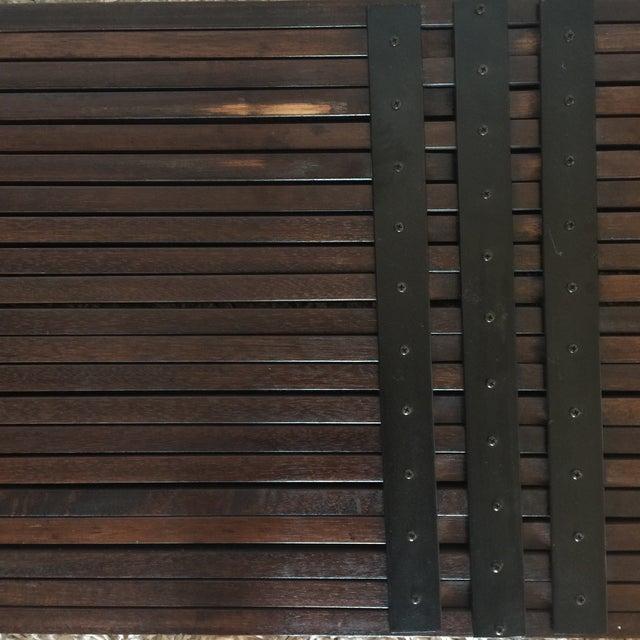 Brown Saltman Mid-Century Expandable Slat Bench - Image 8 of 9