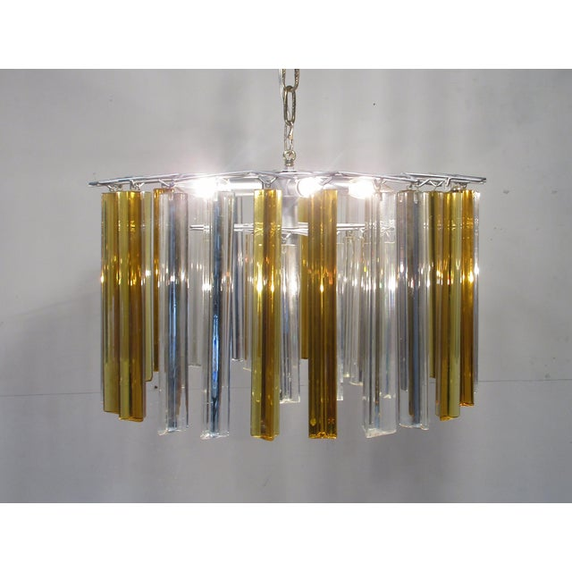 Vintage Retro Glass Rod Chandelier - Image 5 of 6