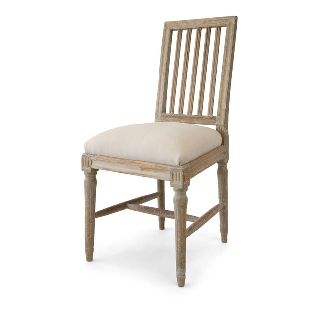 Gray Six Swedish Dining Chairs For Sale - Image 8 of 11