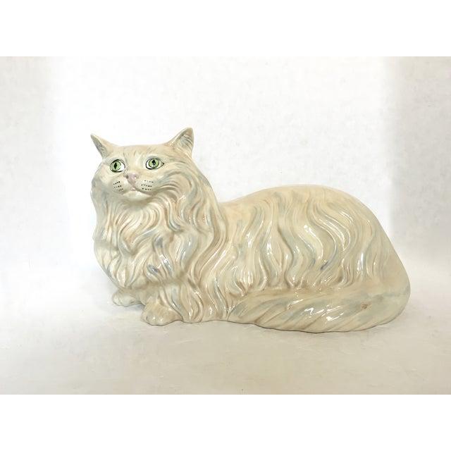 Vintage Ceramic Cat Statue - Image 2 of 6