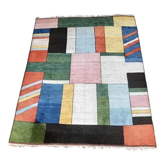 Colorful Turkish Rug, Home Decor, Area Rug 6.6*5.3 Ft. For Sale