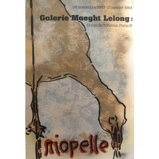 1984 Original French Exhibition Poster, Riopelle, Galerie Maeght Lelong For Sale