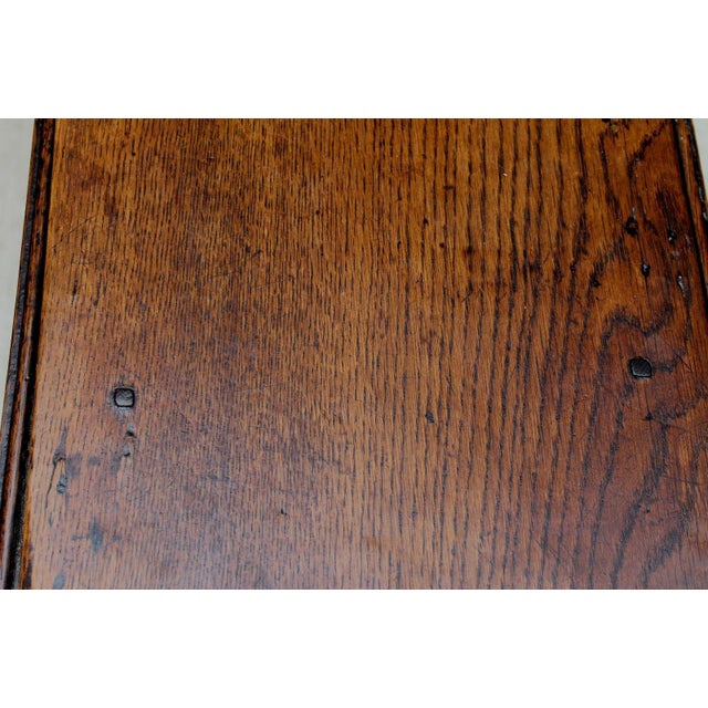 Brown Antique English Traditional Oak Table Drop Leaf Gate Leg Farmhouse Sofa Table For Sale - Image 8 of 13