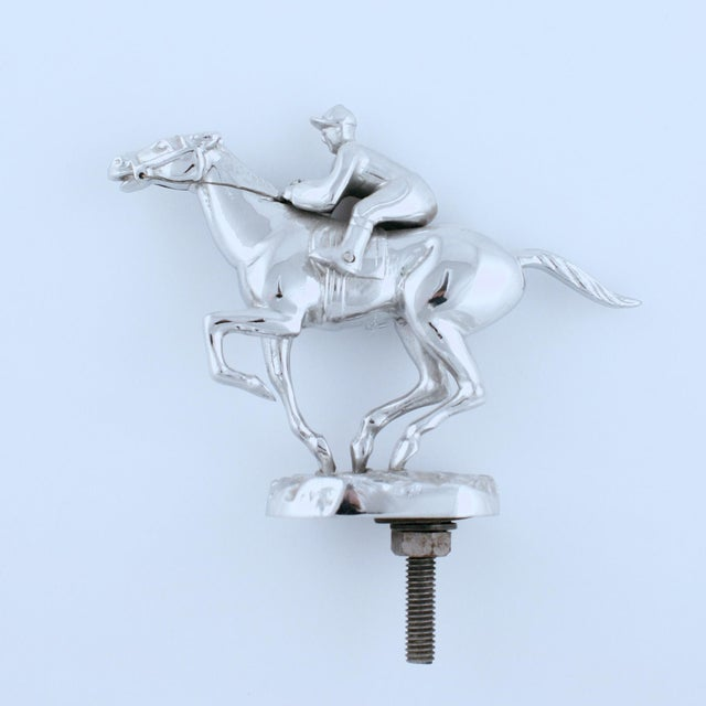 Fabulous chrome custom hood ornament from 1930's-1970s by Desmo or Lejeune Ltd of England!