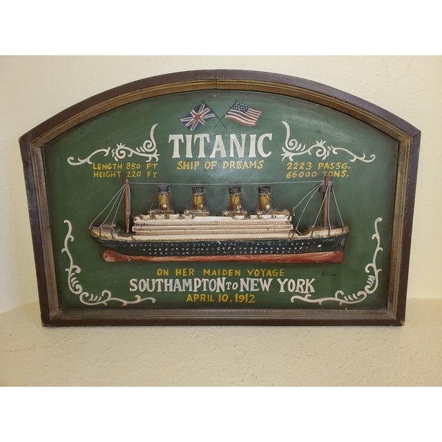 """Original Early 20th Century Mixed Media Art """"Remember the Titanic"""" For Sale - Image 13 of 13"""