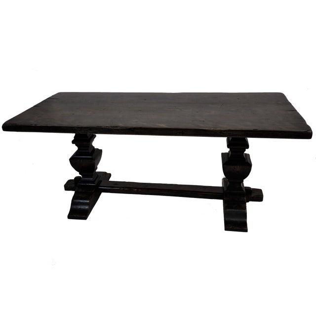 French Oak Trestle Dining Table - Image 2 of 10