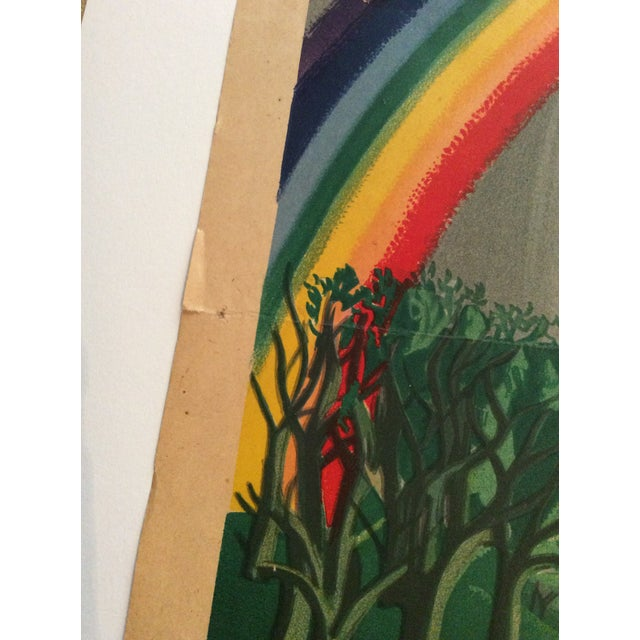 """Raymond Peynet Original Lithograph """"The Lovers, the Tree, the Rainbow"""" For Sale - Image 4 of 6"""