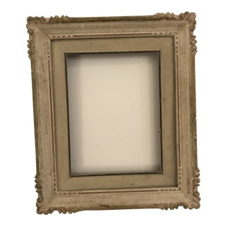 1950s Vintage White Painted Picture Frame For Sale
