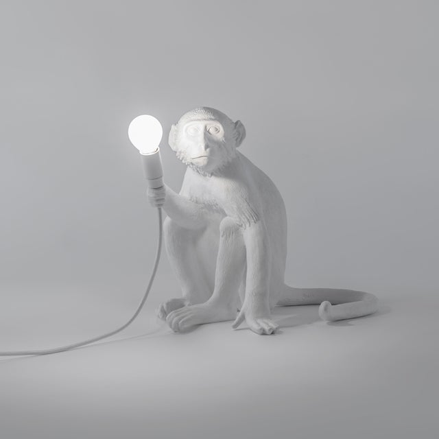 Seletti, Sitting Monkey Lamp, White, Marcantonio, 2016 For Sale In New York - Image 6 of 11