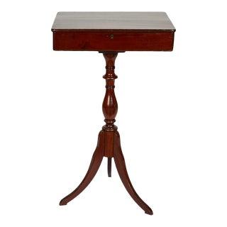 19th Century Georgian Mahogany Tripod-Base Sewing Table For Sale