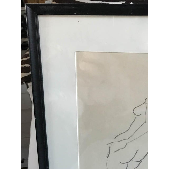 Mid 20th Century Vintage Nude Drawing, Signed For Sale - Image 5 of 7