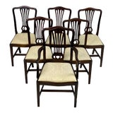 Image of Late 19th Century Antique Mahogany George III Chippendale Style Dining Chairs - Set of 6 For Sale