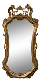 Image of Gesso Mantel and Fireplace Mirrors