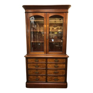 Antique Display Case With Chest of Drawers