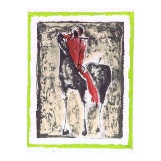 """Marino Marini """"Horse with Red Rider"""""""