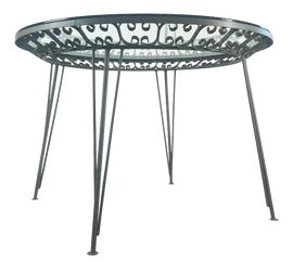 Image of Wrought Iron Dining Tables
