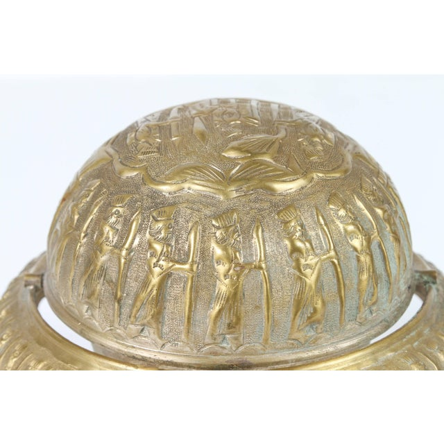Footed Brass Silvered Persian Caviar Server For Sale In Los Angeles - Image 6 of 8