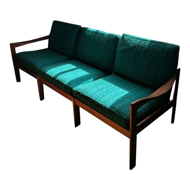 Vintage Modern Danish Teak Parlor Couch - Image 1 of 5