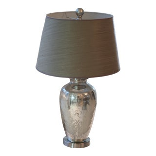 Mercury Base Table Lamp With Custom Shade For Sale