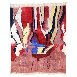 Contemporary Moroccan Rug With Postmodern Bauhaus Style - 8′3″ × 9′7″ For Sale