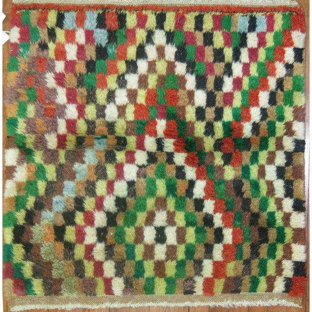 Boho Chic Vintage Turkish Mosaic Rug - 2′9″ × 3′1″ For Sale - Image 3 of 3