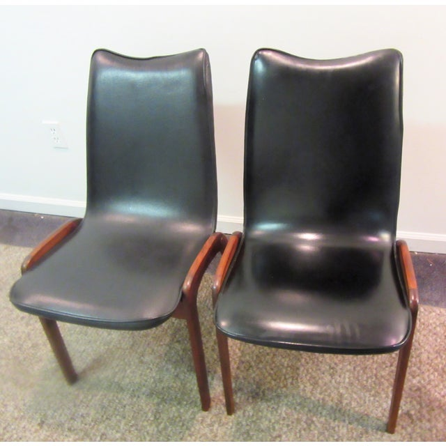 Mid-Century Danish Modern Teak Dining Chairs- A Pair - Image 2 of 10