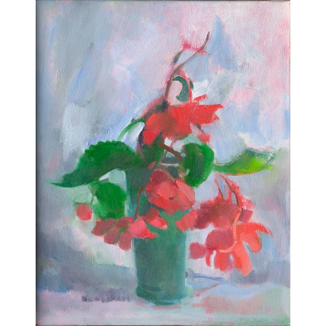"Impressionist ""Begonias"" Print by Amy Griffith Colley For Sale - Image 3 of 3"