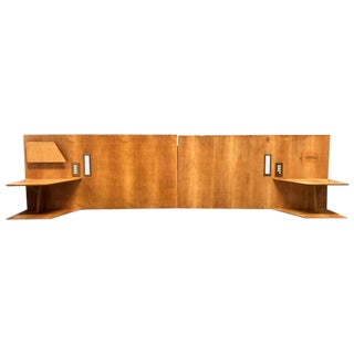 Gio Ponti Headboards, From Hotel Royal Continental , Napoli, 1953, Set of Two For Sale