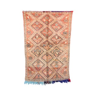 """Boujad Vintage Moroccan Rug, 3'10"""" x 5'7"""" feet"""