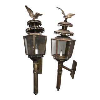 Federal Carriage/Coach Lamps - a Pair For Sale