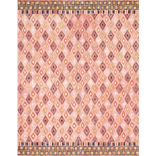 "Loloi Rugs Priti Rug, Pink / Sunset - 7'9""x7'9"" For Sale"