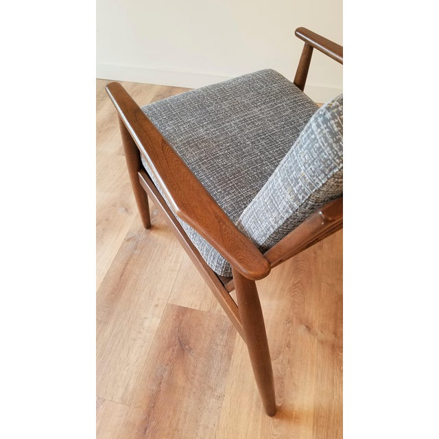 Newly Upholstered Viko Baumritter Walnut Armchair For Sale - Image 9 of 12
