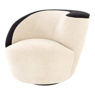 Vladimir Kagan Mid Century Nautilus Style Lounge Chair For Sale