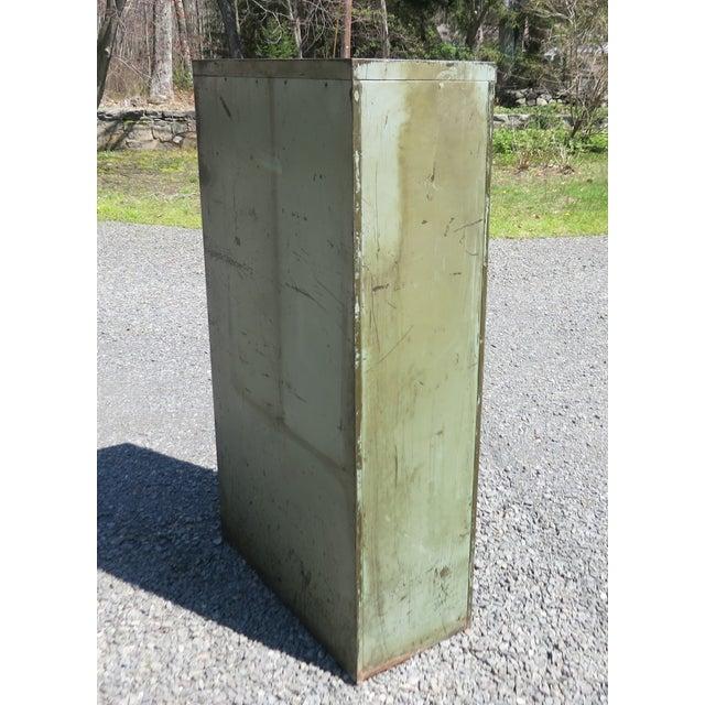 Vintage Industrial Metal File Cabinet For Sale - Image 10 of 11