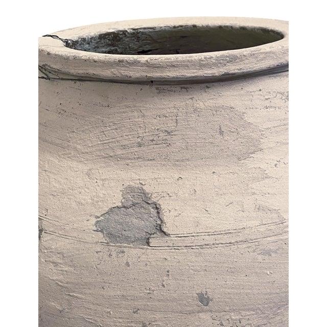 Antique Whitewashed Terra Cotta Olive Jar For Sale In Mobile - Image 6 of 9