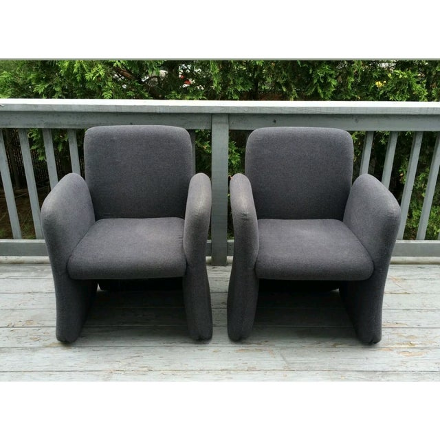 Mid-Century Bellini Style Chicklet Chairs - Pair - Image 3 of 7