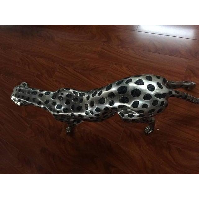 Metal Cheetah Metal Sculpture For Sale - Image 7 of 9