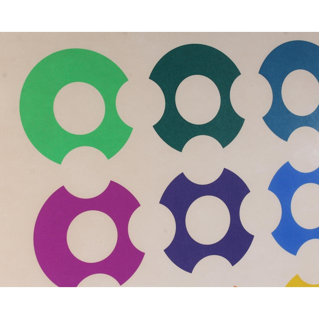 Victor Vasarely Limited Edition Op Art Lithograph Print Signed Victor Vasarely For Sale - Image 4 of 8