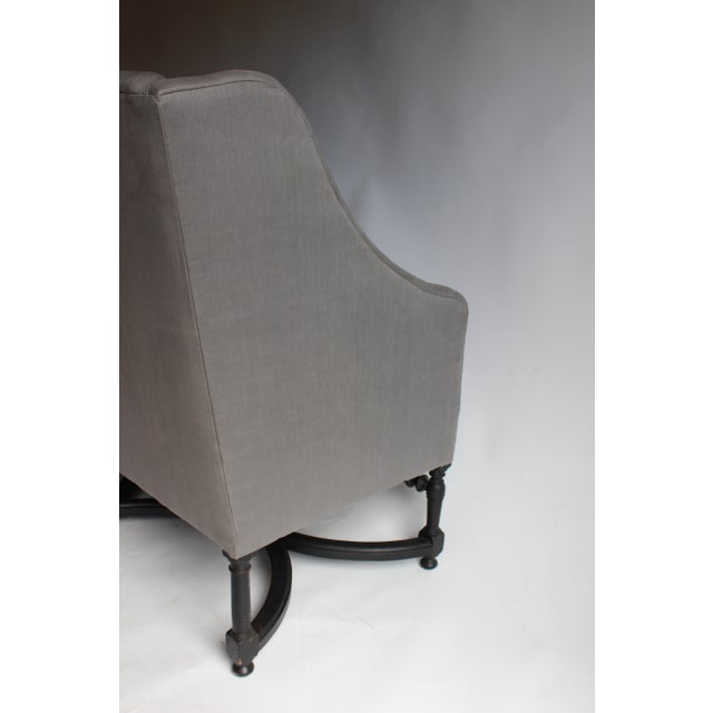 Wood 19th Century French Ebonized Settee For Sale - Image 7 of 8