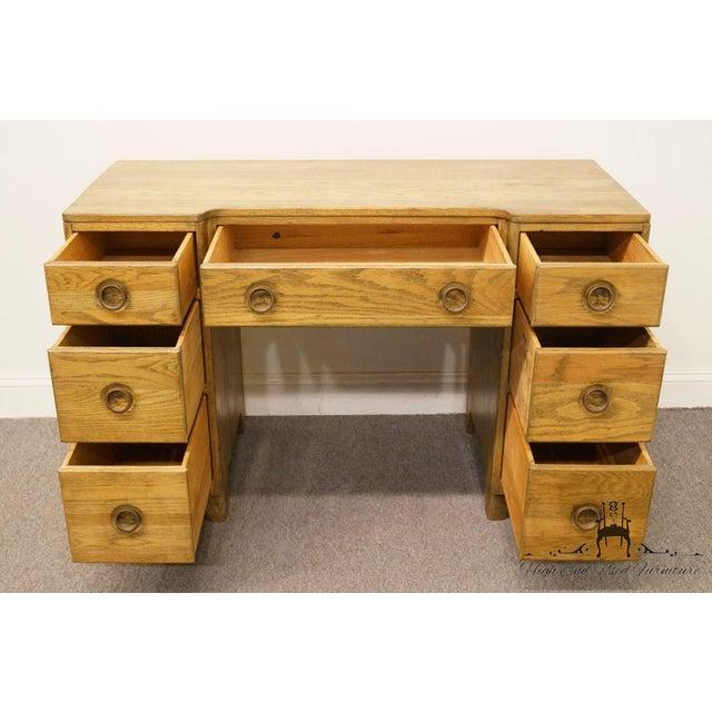 "Davis Cabinet Co. Solid Oak Richwood Finish 48"" Vanity For Sale In Kansas City - Image 6 of 13"
