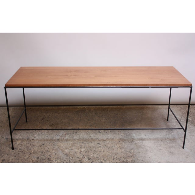 Contemporary Paul McCobb for Winchendon Maple and Iron Console / Media Table For Sale - Image 3 of 13