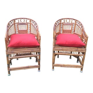 Hand Carved Vintage Brighton Pavilion Chairs - a Pair