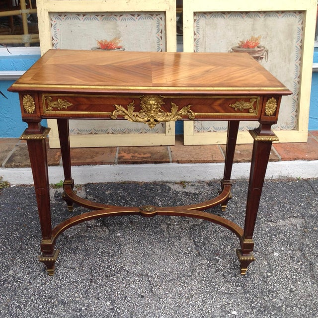 Traditional Fine French Ladies Writing Table For Sale - Image 3 of 13
