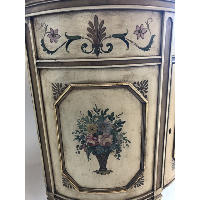 Traditional 18th Century Style Demilune Cabinet For Sale - Image 3 of 12