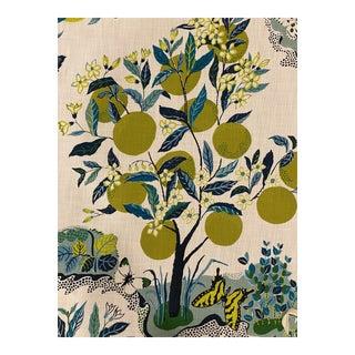 Schumacher Citrus Garden II Indoor Outdoor 3 1/2 Yards Fabric For Sale