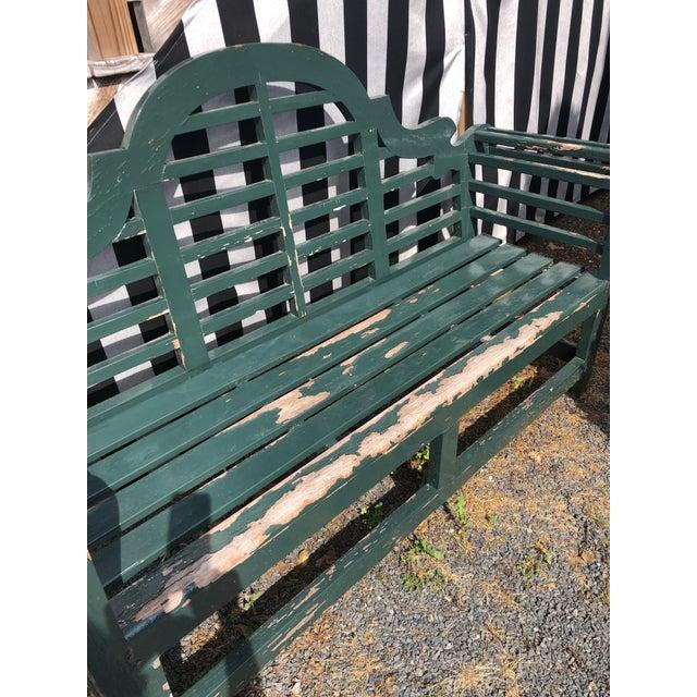 English Edwardian Lutyens Style Bench in Teak For Sale In Philadelphia - Image 6 of 10