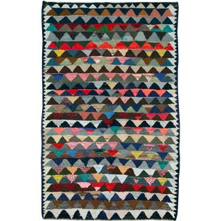 "Vintage Persian Flatweave Kilim Rug – Size: 5' 6"" X 8' 8"" For Sale"