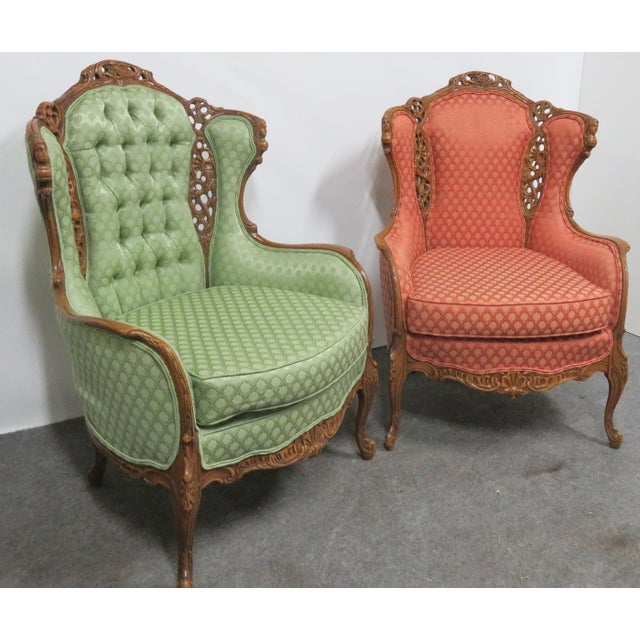 Louis XV Style Carved Chairs- a Pair For Sale - Image 4 of 10