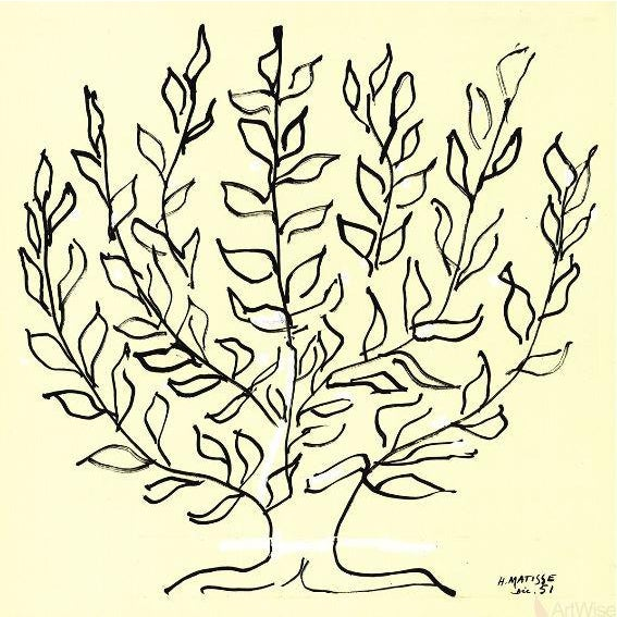 """Henri Matisse 2014 Large Lithograph, """"Le Buisson"""" by Henri Matisse For Sale - Image 4 of 4"""