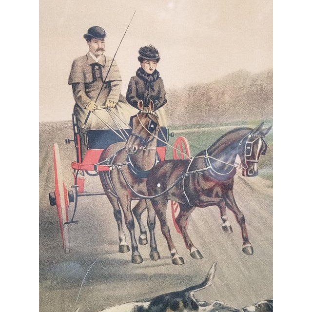 Green Antique English Hunting Framed Print For Sale - Image 8 of 13